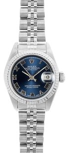 Rolex Rolex DateJust Stainless Steel Blue Roman Dial Watch 69174