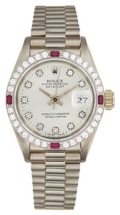 Rolex Rolex DateJust Custom Diamond & Ruby Ladies Watch