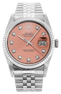 Rolex ROLEX DATEJUST STAINLESS STEEL DIAMOND DIAL MEN'S WATCH
