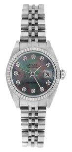 Rolex Rolex DateJust Stainless Steel Tahitian Mother of Pearl Diamond Dial Watch 69174