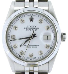 Rolex Rolex Datejust Stainless Steel W Diamond Dial Hidden Clasp Jubilee Style Band
