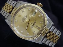 Rolex Rolex Datejust Two-tone 18k Gold Stainless Steel Champagne Factory Diamond 16013