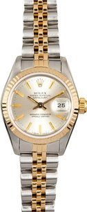 Rolex Rolex DateJust Two Tone Silver Index Dial Watch 69173
