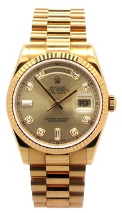 Rolex Rolex Day-Date 18K Yellow Gold Original Diamond Dial Men's Presidential Watch