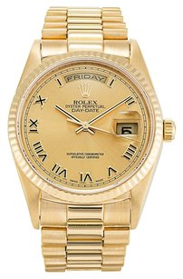 Rolex ROLEX Day-Date President Champagne Roman Dial Watch 18238