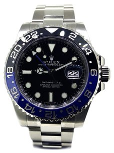 Rolex Rolex GMT Master II Black Dial Stainless Steel Mens Watch 116710BLNR