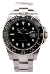 Rolex Rolex GMT Master II Stainless Steel Black Dial Ceramic Bezel Men's Watch