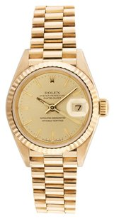 Rolex Rolex Datejust 18K Yellow Gold Champange Dial Ladies Presidential Watch