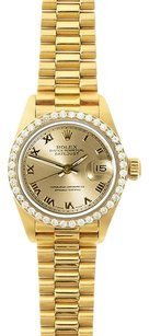Rolex Rolex Ladies DateJust Champagne Roman Diamond President Watch 69178
