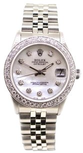 Rolex ROLEX Ladies DateJust Midsize Diamond Mop Dial Watch 68274
