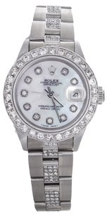Rolex Rolex Ladies DateJust Stainless Steel Diamond Mother of Pearl Watch