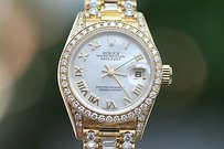 Rolex Rolex Ladies President Crown Collection 26mm Model 79238 Factory Diamonds Band