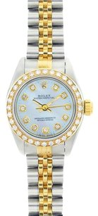 Rolex ROLEX Ladies Two-Tone Oyster Perpetual No Date Diamond Mop Watch 67193