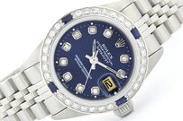 Rolex Rolex Lady Datejust Stainless Steel and 18K White Gold Blue Diamond and Sapphire Watch
