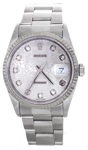 Rolex Rolex Men's DateJust Diamond Jubilee Dial Watch