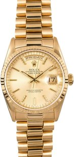 Rolex Rolex Men's Day-Date President Champagne Tapestry Dial Watch 18238