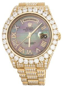 Rolex Rolex Men's Day-Date Yellow Gold Mop Diamond President Watch 218238