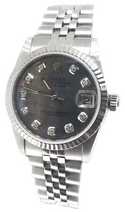 Rolex Rolex Midsize DateJust Tahitian Diamond Dial Stainless Steel Ladies Watch