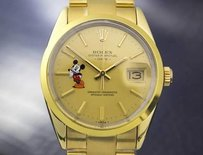 Rolex Rolex Oyster Date Automatic 1505 Quickset Gold Capped Steel Mickey C.1983 Rx5195