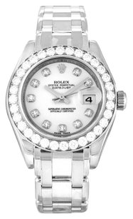 Rolex ROLEX PEARLMASTER 80299 ORIGINAL DIAMOND LADIES WATCH