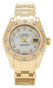 Rolex ROLEX PEARLMASTER 80318 ORIGINAL DIAMOND LADIES WATCH
