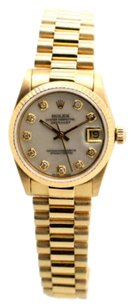 Rolex Rolex DateJust 68278 18k Yellow Gold Custom Diamond Unisex Presidential Watch