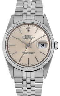 Rolex Rolex Datejust Stainless Steel Silver Dial Men's Watch