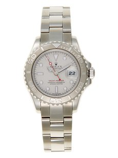 Rolex Rolex Yacht-Master Stainless Steel Platinum Bezel Ladies Watch
