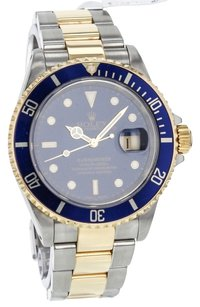 Rolex ROLEX SUBMARINER 16613 STEEL AND 18K GOLD BLUE DIAL MEN'S WATCH