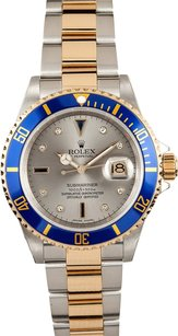 Rolex Rolex Submariner Two Tone Silver Dial Watch 16613