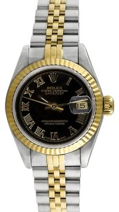 Rolex Rolex Datejust 18K Yellow Gold and Steel Black Dial Ladies' Watch