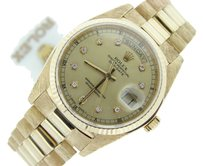 Rolex Mens Rolex Day-date President 18k Yellow Gold Watch Wgold Diamond Dial 18038