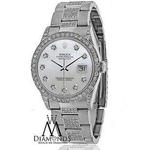 Rolex Rolex Watch- Datejust 16200 36mm - White Mother Of Pearl Dial - Oyster