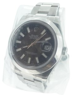 Rolex Rolex Watch Datejust ii 2 41mm Black Oyster Stainless Steel 116300