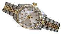 Rolex Rolex Date Ladies 2tone 14k Yellow Gold Steel Watch Jubilee Silver Dial 6917