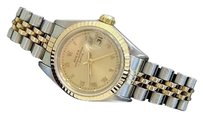 Rolex Rolex Date Lady 2tone 18k Yellow Gold Steel Watch Jubilee Band Roman Dial 69173