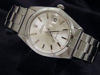 Rolex Rolex Oysterdate Mens Stainless Steel Watch Silver Dial Oyster Rivet Band 6694