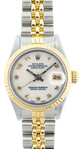 Rolex Rolex Women's Datejust Two-tone Ivory Jubilee Dial Watch 69173