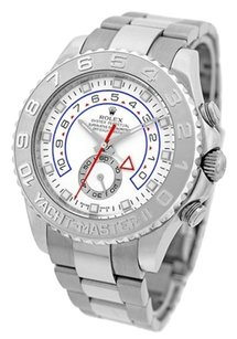 Rolex Rolex Yachtmaster II White Arabic Dial Oyster Bracelet 18k White Gold and Paltinum Men's Watch 116689