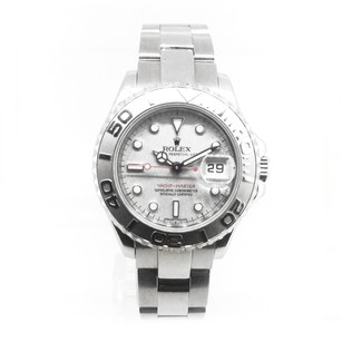 Rolex Rolex YachtMaster Stainless Steel Silver Dial Ladies Watch