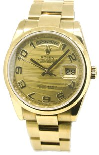 Rolex Rolex Yellow Gold Oyster Band 36mm Presidential Watch 118208