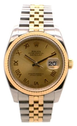 Rolex Rolex DateJust 116233 18K Gold and Steel Champagne Roman Dial Men's Watch