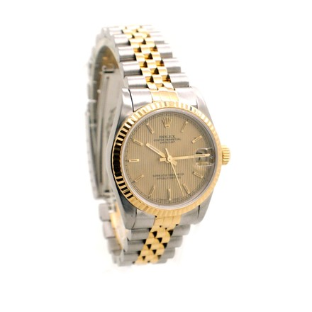 Rolex Rolex Datejust 68273 18K Yellow Gold and Steel Tapestery Dial Unisex Watch