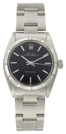 Rolex Rolex Oyster Perpetual Stainless Steel Black Dial Unisex Watch