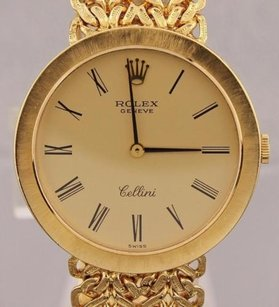 Rolex Vintage Rolex Cellini Manual Wind 18k Solid Gold Watch Dr9