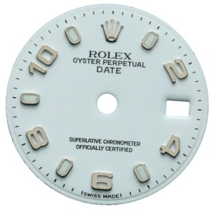 Rolex Rolex White Arabic Dial for Ladies 26mm Watch, Dial Only - fit 6917