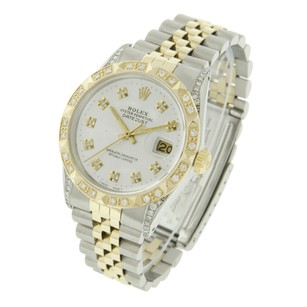 Rolex Rolex Men's Datejust Two-Tone Diamond Dial Diamond Bezel/Lugs Watch