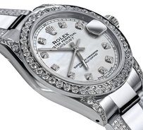 Rolex Women's Rolex 31mm Oyster Perpetual Datejust s/s Diamonds Pearl Dial