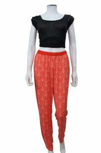 Romeo & Juliet Couture Printed Pant Red Pants