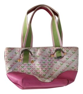 Roxy Pink,green , white Messenger Bag